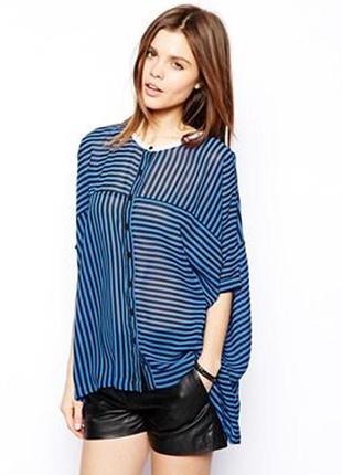 Свободная блуза с разрезом на спине asos,р-р 4