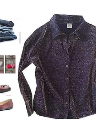 Нарядная трикотажная рубашка слюрексом размер 52-54
