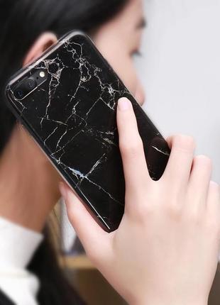 Новый мраморный силиконовый чехол бампер на телефон айфон iphone 📱 7,8