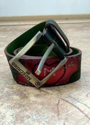 Кожаный ремень/пояс  moschino