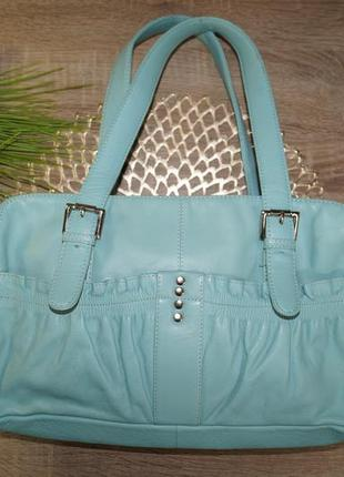 Tommy&kate! кожа! фирменная сумка в красивом цвете