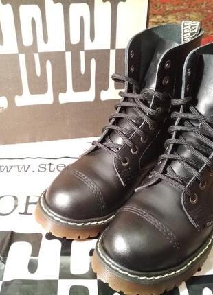 Ботинки steel стилы берцы типа dr.martens новые кожаные 39 40 размер