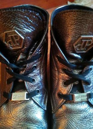 Ботинки кожаные philipp plein