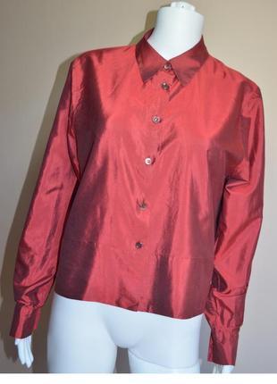 Шелковая блуза rene lezard 100% шелк