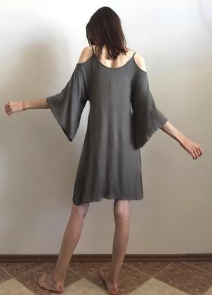 Платье-туника цвета хаки2