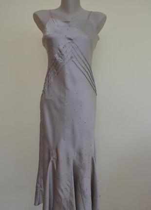 Нарядное коктельное платье 100% шелк в бельевом стиле