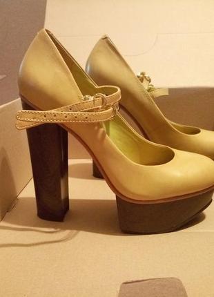 Туфли asos из натуральной кожи