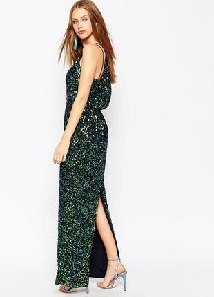 Шикарнейшее вечернее платье в пайетку от asos