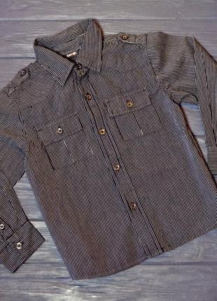 Рубашка на мальчика 4-5 лет в наличии полосатая в полоску george