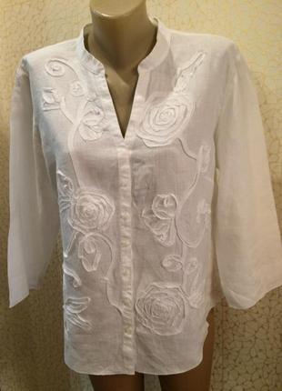 Блуза нарядная лен 100%