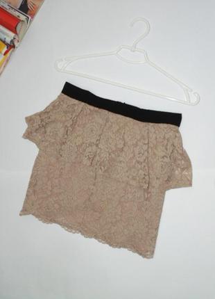 Кружевная юбка с баской