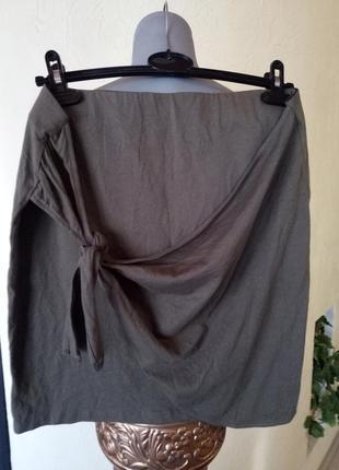 Летняя трикотажная юбка 46-48