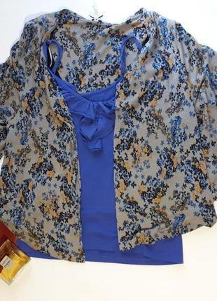 Женская накидка цветочный принт кофта пиджак кардиган балеро большой размер next
