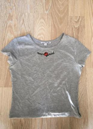 Укороченная футболка-топ tally weijl m