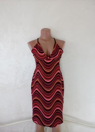 Яркое летнее мини платье boohoo