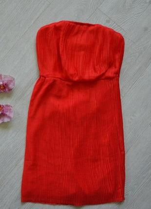 Распродажа летний сарафан красный терракот zara короткий