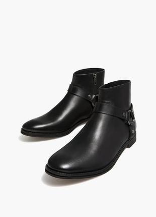 Кожанные ботинки stradivarius