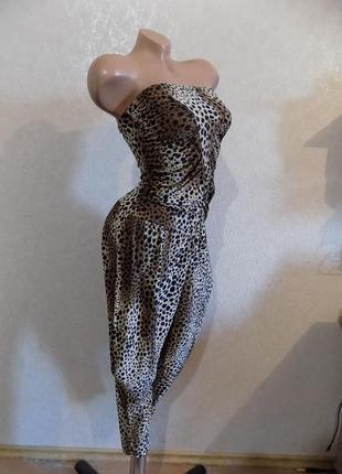 Комбинезон галифе леопардовый эластик размер 40-42