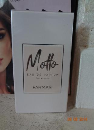 Парфюмированная вода женская motto farmasi фармаси
