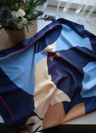 Шелковый платок/шарф с принтом