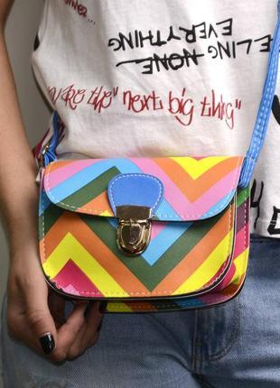 Яркая сумочка, клатч-мини