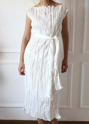 Длинное платье с мятым эффектом от zara