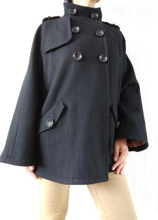Шерстяной кейп пончо пальто oversize. р. 38-40 франция promod