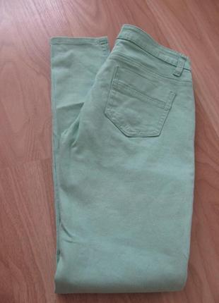 Мятные джинсы скинни хс-с