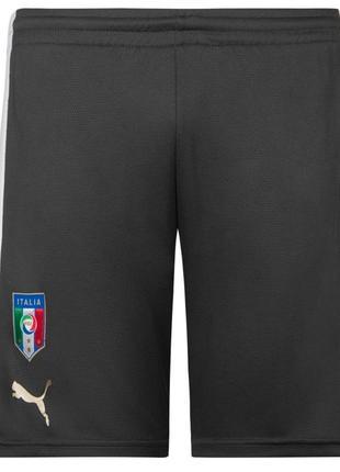 Оригинал спортивные шорты подростковые чёрные italien puma. размер xs. 6-10 лет