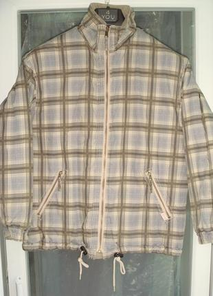 Куртка зимняя esprit р.152, полненькому мальчику 10-12лет, 2-х сторонняя