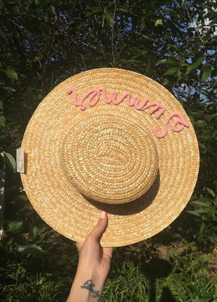 Трендовая соломенная шляпа канотье primark 👒