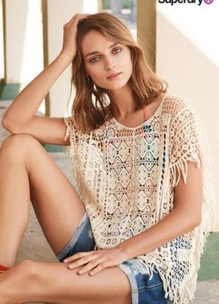 Шикарная блуза кружевная italy размер c-м