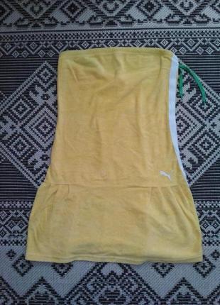 Прикольное мягкое махровое платье от puma, p. l