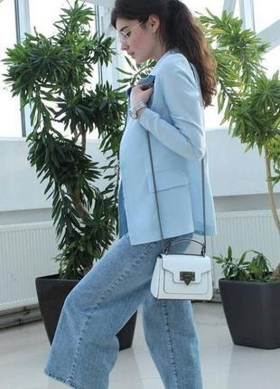 Белая кожаная итальянская мини сумка кроссбоди, италия