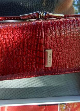 Маленький кожаный женский кошелёк