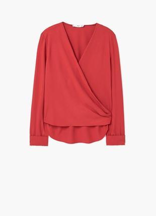 Красная блузка mango (бесплатная доставка)