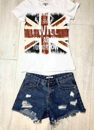 Шорты джинс+футболка