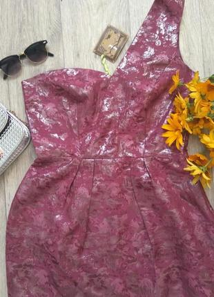 Короткое летнее нарядное вечернее платье