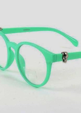 Мятные очки для имиджа, имиджевые очки с прозрачными линзами без диоптрий нулевки