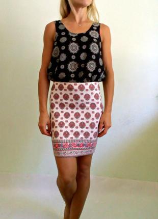 Трикотажная юбка по фигуре