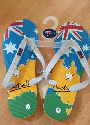 Шлепки пляжные, австралия. оригинал.