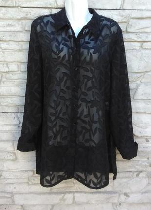 Распродажа!!! красивая, шифоновая блуза, накидка черного цвета в принт