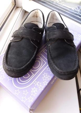 Туфли мокасины нубук topitop 34р. стелька 20-20. 5см