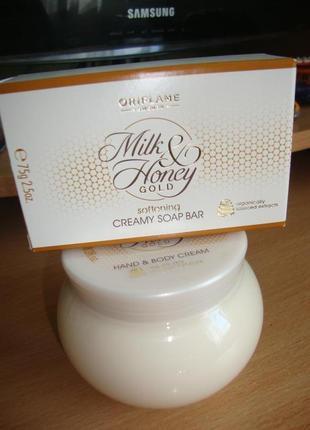 """Крем для тела и мыло """"молоко и мёд"""""""