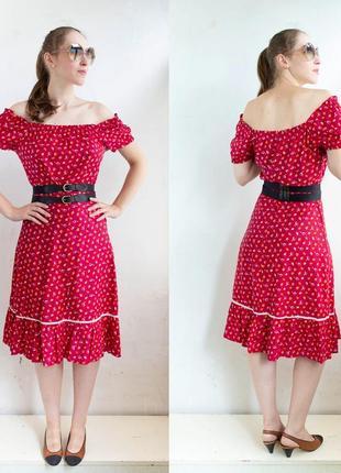 Платье испанка / открытые плечи