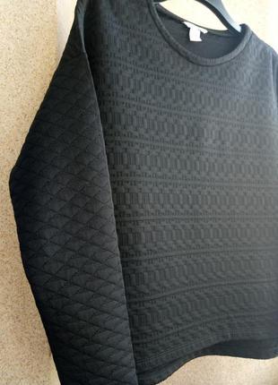 Свитшот/свитер в объемный орнамент