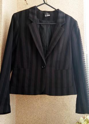 Укороченный пиджак в полоску