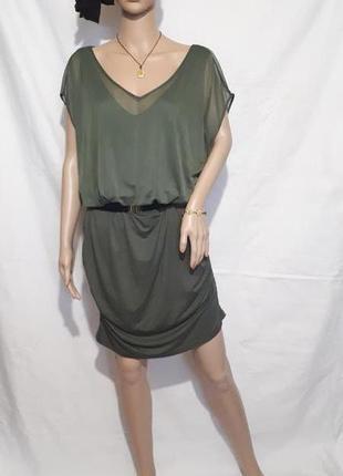 Платье женское сетка rainbow collection цвет хаки большой размер распродажа