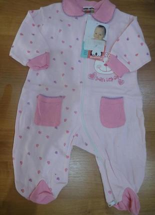 Новые с бирками человечки в роддом пижама комбинезон