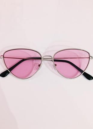 """Розовые очки в серебрянной оправе """"dragonfly"""""""